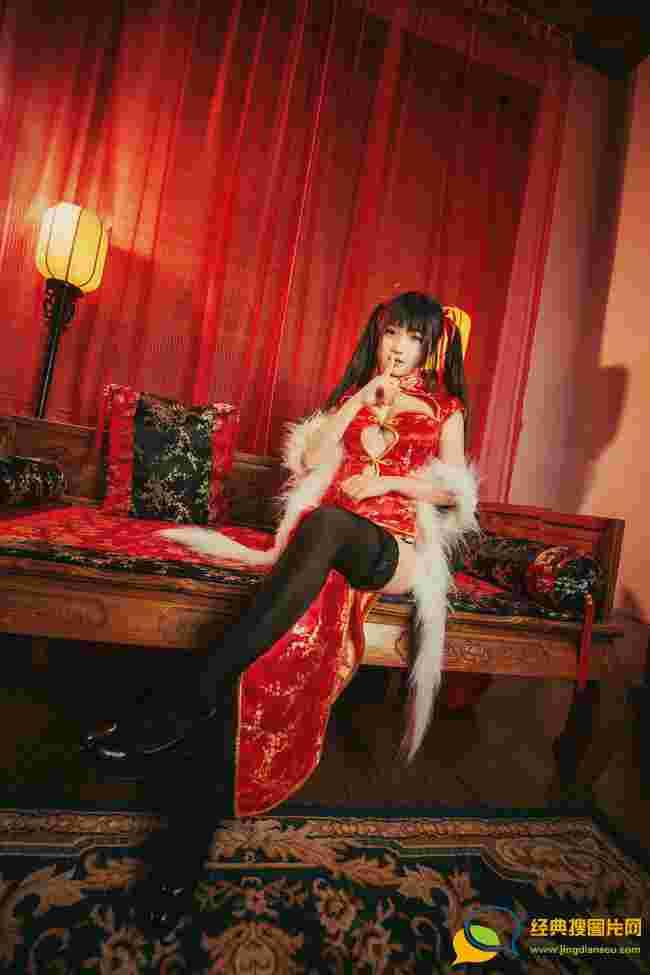 病娇少女时崎狂三双人旗袍版唯美cosplay