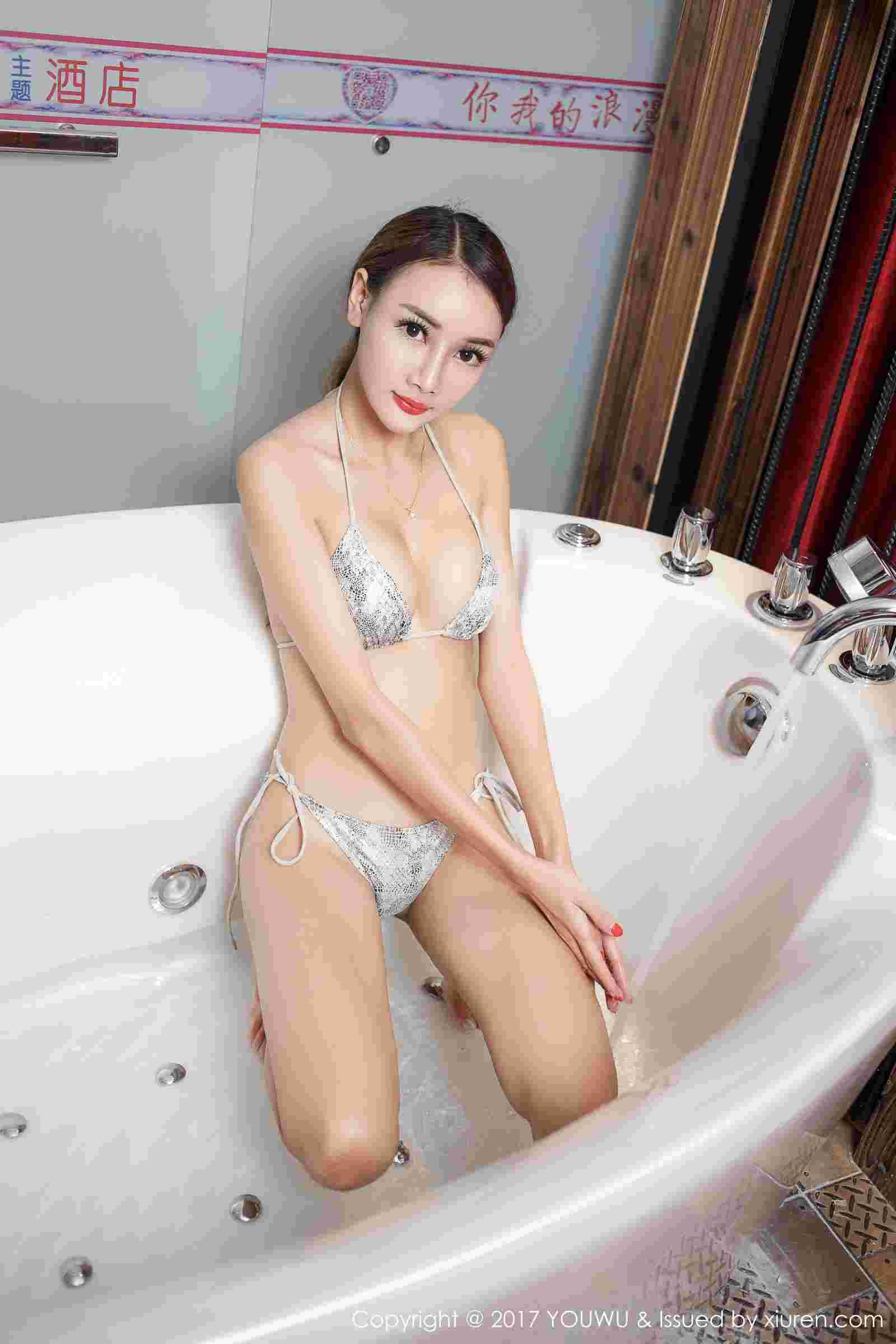 婕西儿jessie - 浴室湿身下的完美诱惑