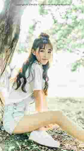夏日清新美女手机壁纸精选