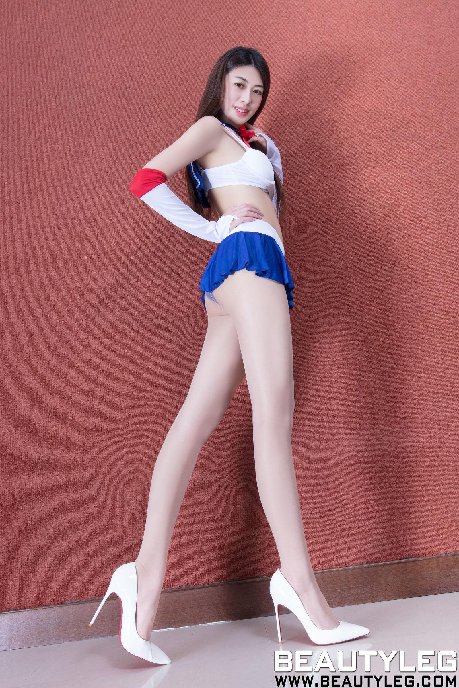 腿模Flora - 肉丝袜制服美腿套图