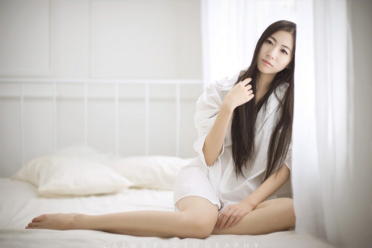薄纱的森系长腿美女