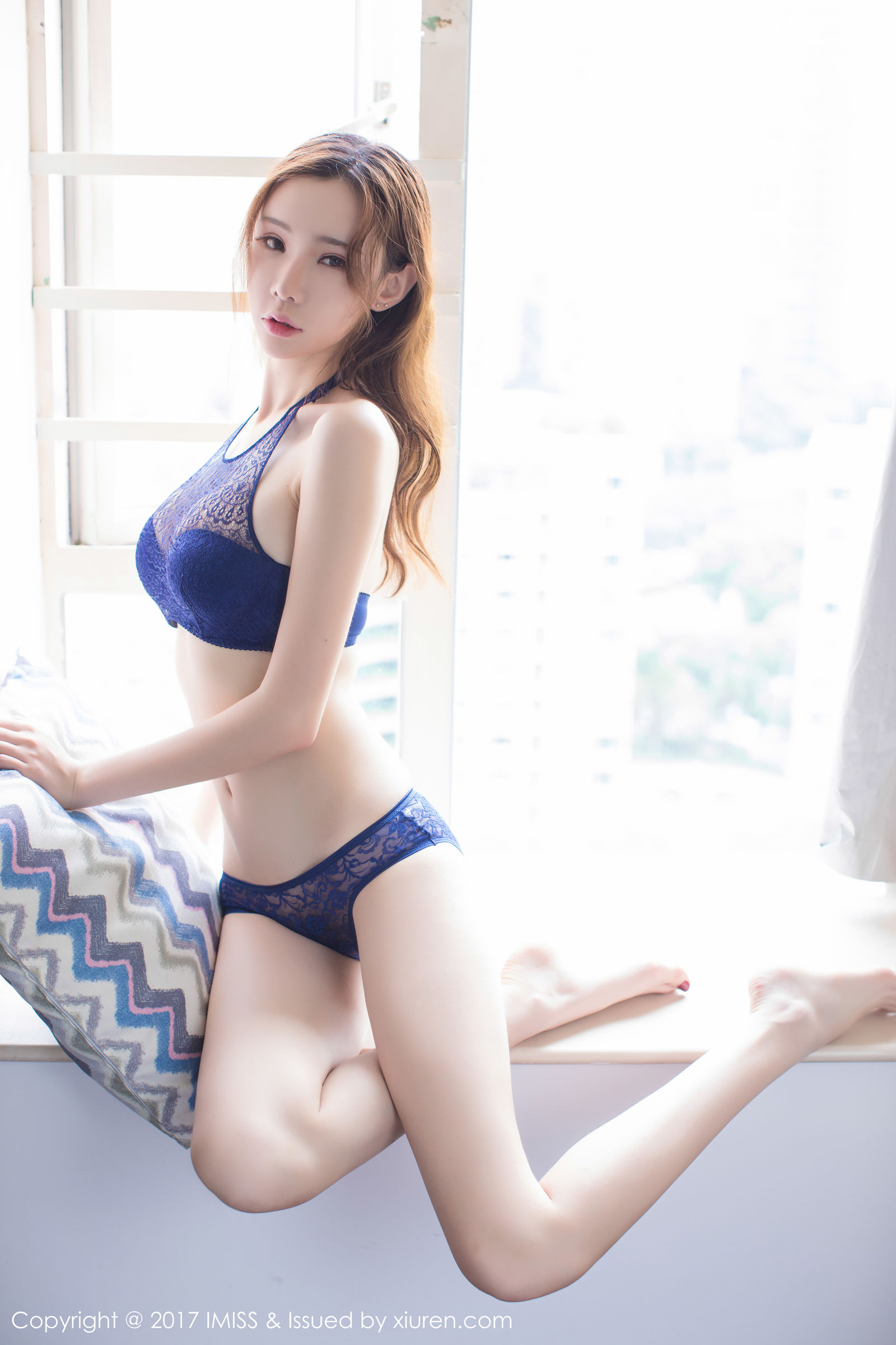 萌琪琪Irene - 粉色睡衣+蕾丝内衣写真~